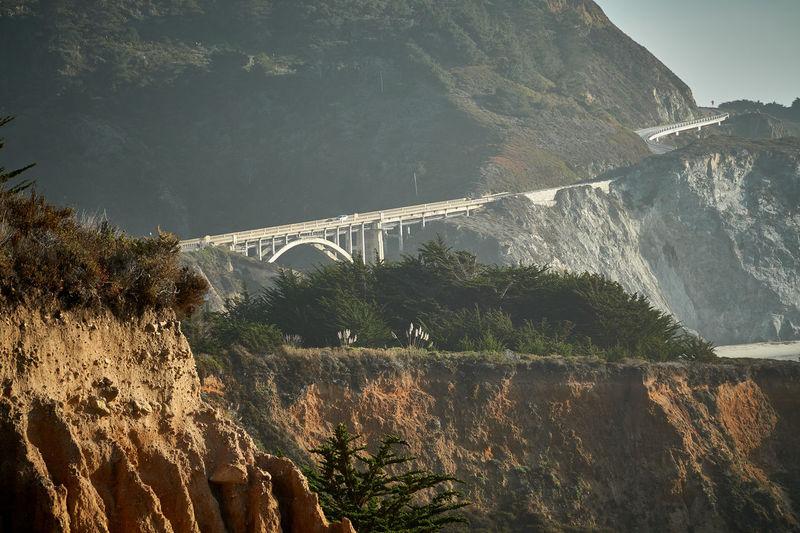 View of bridge over mountain