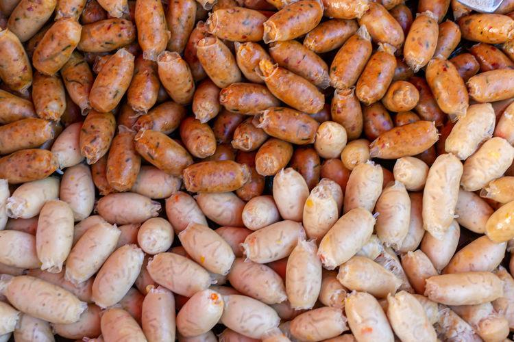 Full frame shot of coffee beans at market stall