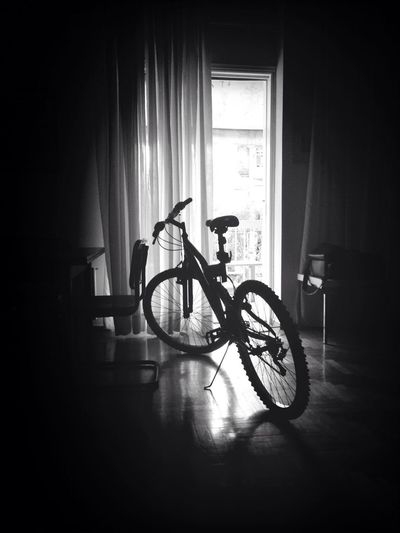 My Bicycle got Protection @ Living Room :p Black & White