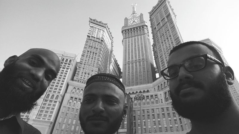 It's always better together! Taking Photos Hanging Out Makkah Better Together Cousins  Friends Clock Tower Makkah Tower Pakistani Traveller The Real Pakistani Man