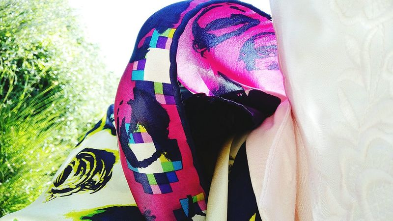 Esarp Rengarenk Colorful Colorful Scarf Scarf Pink Purple Green And Purple Breeze Green And Pink