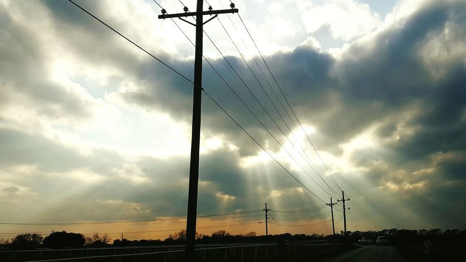 Electricity  Power Line  No People Dramatic Sky The Way Forward Nature Outdoors Sky Sunset Cloud - Sky Road Electricity Pylon Cable Power Supply Lovely Louisiana Nature Eye Of Ky Louisiana Skies Louisianaphotography Beauty In Nature Nature Louisiana Drivingshots Sunset_captures Sunset_collection