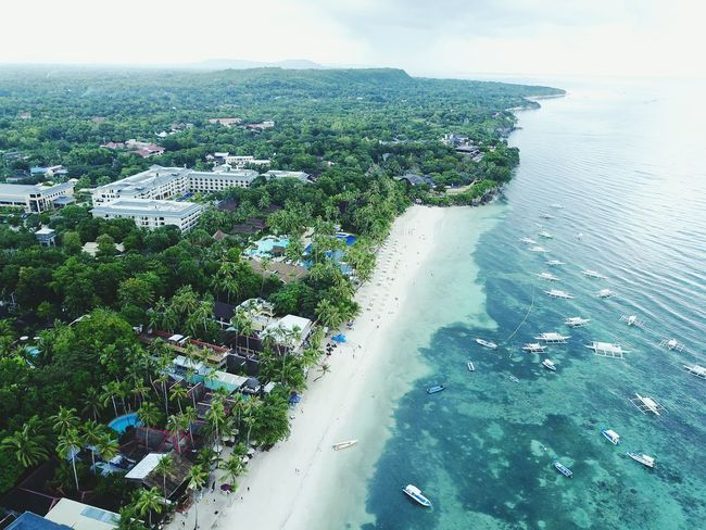 Sea Sky Day Outdoors Scenics Aerial View Cloud - Sky No People Nature Tree Water Travel Destinations Beauty In Nature City Landscape Beach Nautical Vessel Horizon Over Water Cityscape Eyeem Philippines Drone  Droneshot Dronephotography Bohol Panglao