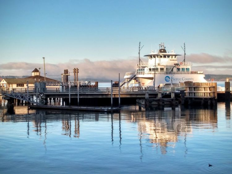 Steilacoom Ferryboat Nautical Vessel Water Sea Blue Scenics Outdoors EyeEmNewHere