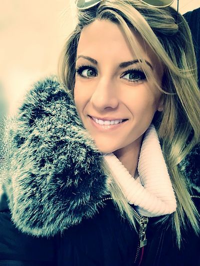 Portrait Warm Clothing Looking At Camera Adult Beauty Winter Adults Only