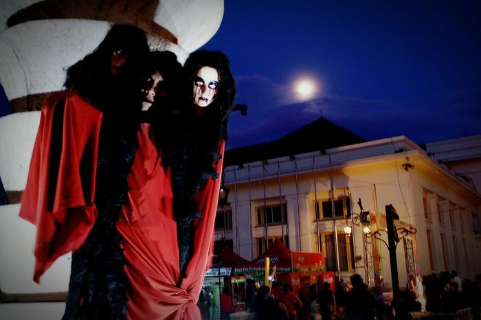 Red Devils Night Outdoors Arts Culture And Entertainment Performance Horrortoyphotography Horror Photography Human Interest Indonesia Horror Show Phone Photography Street Photography Smartphone Photography Human Interest PhonePhotography Travel Destinations People Phone Camera Leisure Activity EyeEmNewHere Night Shot City Street Illuminated Phoneography Taken With Infinix Zero 4
