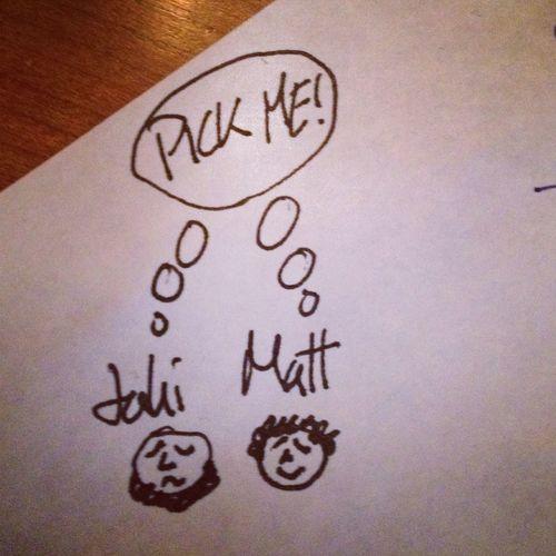 Jahi Chikwendiu and Matt McClain sweat it out during #whnpa contest judging.