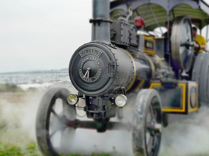 Background Fairground Transportation Great Dorset Steam Fair Day Outdoors Steam Traction Engine Lens Blur Steam