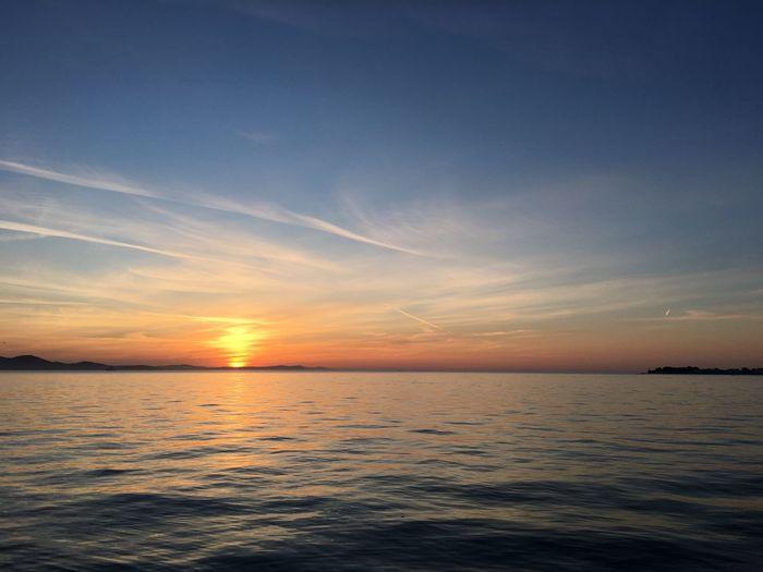 Lostsoul Croatia Zadar Water Sea Sky Sunset Beauty In Nature Scenics - Nature Tranquility Horizon Cloud - Sky Horizon Over Water Tranquil Scene Nature Seascape Dramatic Sky Idyllic No People Dusk Orange Color Environment Outdoors