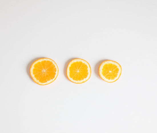 Citrus Fruit Food And Drink Fruit Healthy Eating Orange Color Orange Slices SLICE White Background