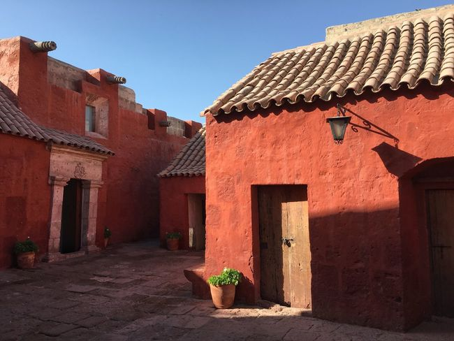 Monasterio de Santa Catalina in Arequipa Arequipa Nunnery Monastery Convent Andes Peru IPhone Traveling Travel Red