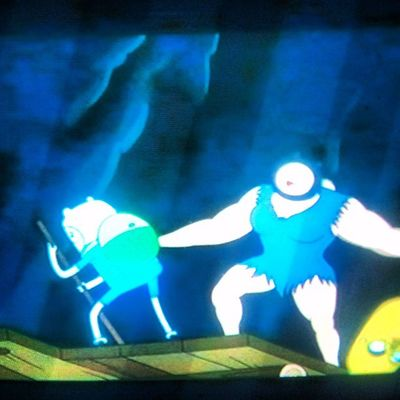 New episode.... Adventuretime Jake FIN Cartoonnetwork