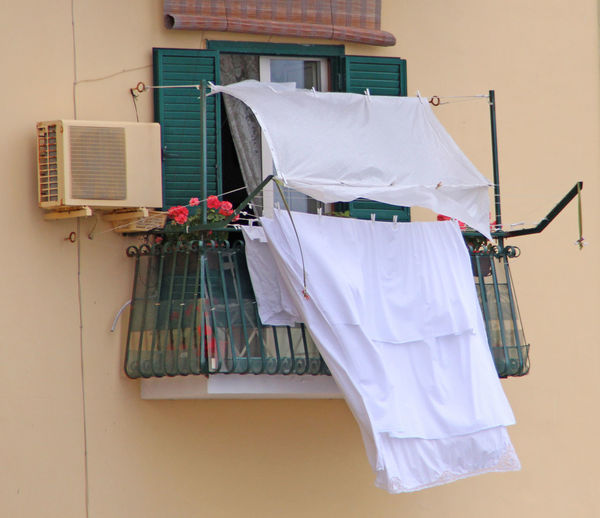 Clothes Hanging At The Balcony