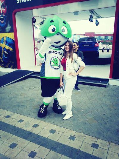 Hockey Me Greenman Happy