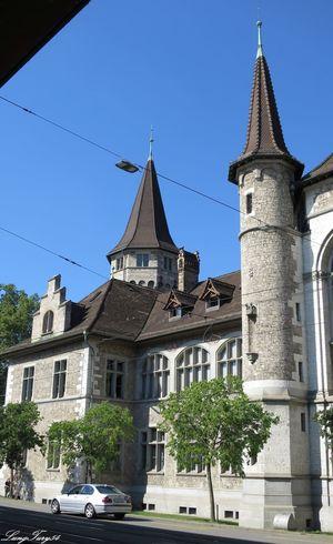 Landesmuseum Architecture Blue Building Exterior Built Structure Day Façade Landesmuseum Zürich Outdoors Schweiz Switzerland The Past Travel Destinations Zürich