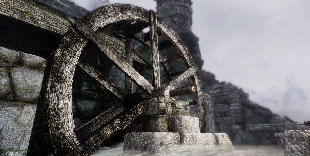 Architecture Low Angle View Built Structure Outdoors No People Bridge - Man Made Structure Cloud - Sky Watermill Sky Day Water Nature Game Day Gamer Game Skyrim Skyrimforlyfe Skyrimworld