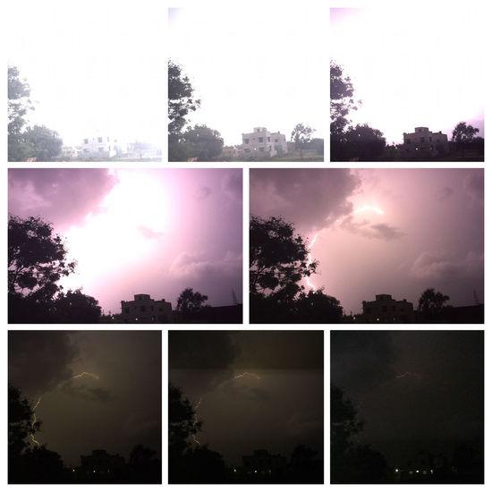 Yahoooooo.... Captured lightning through my iPhone..... Posted without editing.......