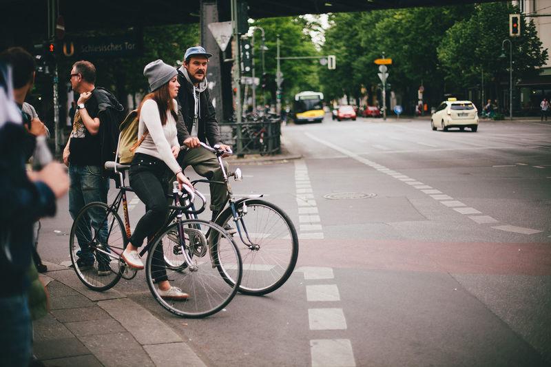 Berlin Bike Vintage Bike Schlesisches Tor Girl Boy Couple biking people in Berlin