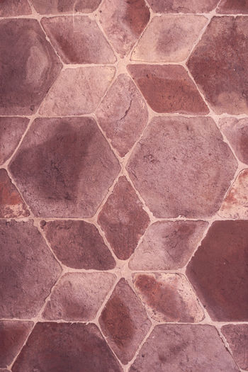 Clay tiles ArchiTexture Backgrounds Bourdeaux Brown Clay Close Up Close-up Detail Diamonds Full Frame Geometric Shapes Geometry Hexagon Italy Pattern Pattern, Texture, Shape And Form Pavement Red Selective Focus Stains And Cracks Textured  Textures And Surfaces Tiled Floor Tiles Veneto