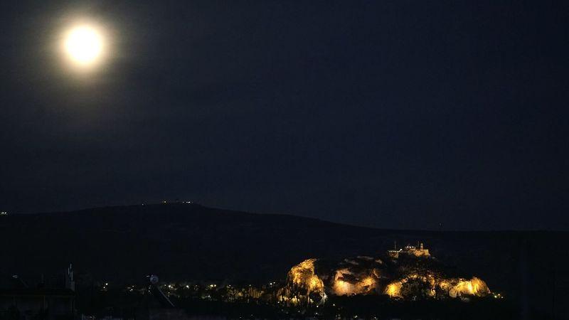 Lycabettus Lycabettus Athens Moon Moon Light 2015  Nikon D90 Nikonphotography Nikon Athens, Greece Athens Night Nightphotography Lofos Skouze