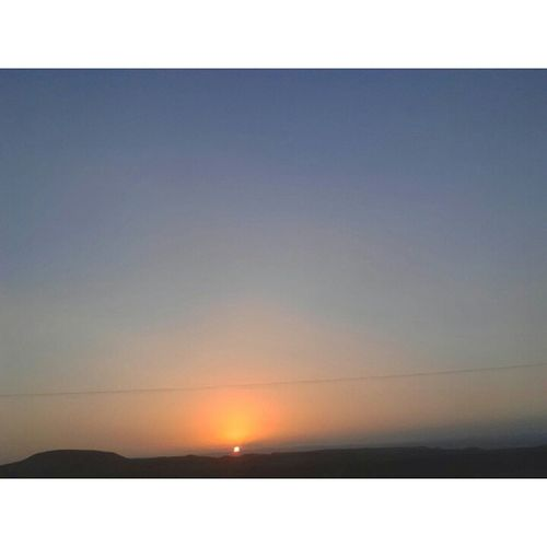 Sunset in Jordan valley right now
