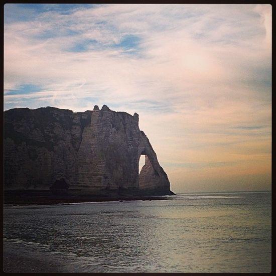 L'Arche d'aval d'Etretat. Landscape , Sea , Peak , Cliff , sky, etretat , normandy