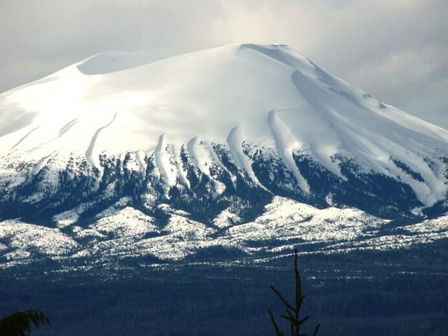 Our volcano, Mount Edgecumbe as seen from Sitka. SitkaAlaska Tlingit Winter Landscape Volcano