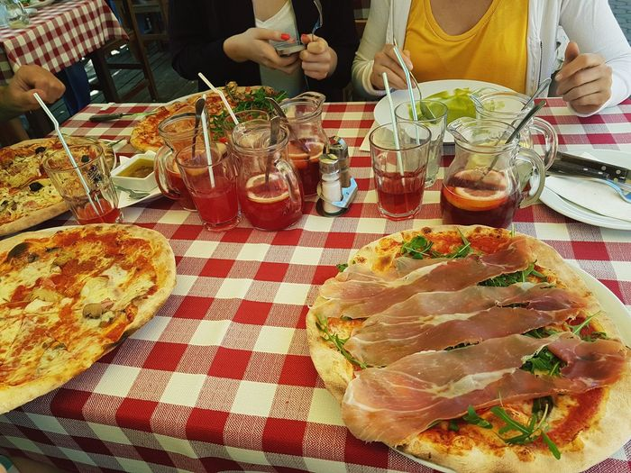 Food And Drink Midsection Table People Indoors  Human Body Part Adult Men Food Two People Adults Only Women Real People Only Women Human Hand Day Freshness Ready-to-eat Close-up