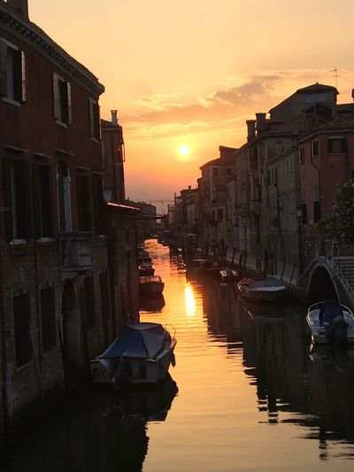Every single night there was a gorgeous sunset and the sounds of the music drifting through the alleys was magical. I love Venice!! Sunset Architecture Building Exterior Built Structure Reflection Sun Water Sunlight Sky Outdoors Nautical Vessel City Gondola - Traditional Boat Day Venice Venice, Italy EyeEmNewHere Gondola Gondolas Let's Go. Together. Sommergefühle
