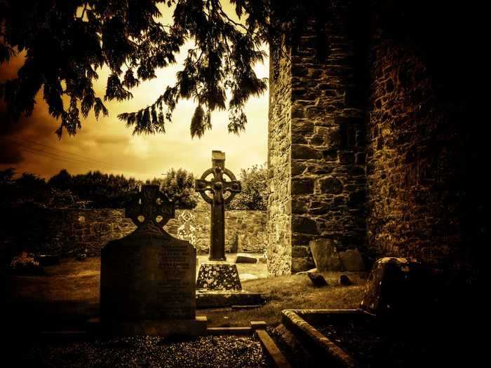 Tea lane graveyard Hello World Taking Photos Check This Out From My Point Of View Ireland🍀 No Edit No Fun Outdoors Ancient Graveyard Gravestones And Monuments Croses Graveyard Collection Light And Shadow Trees And Leaves Creepy Atmoshpere The Places I've Been Architecture Ancient History Sepia_collection Enjoying The View Enjoying Life Tea Lane Graveyard St Mochuas