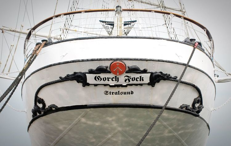 Nautical Vessel Mode Of Transport Communication No People Sailing Ship Mast Outdoors Military Sky Day Close-up Germany Stralsund  Baltic Sea Gorch Fock
