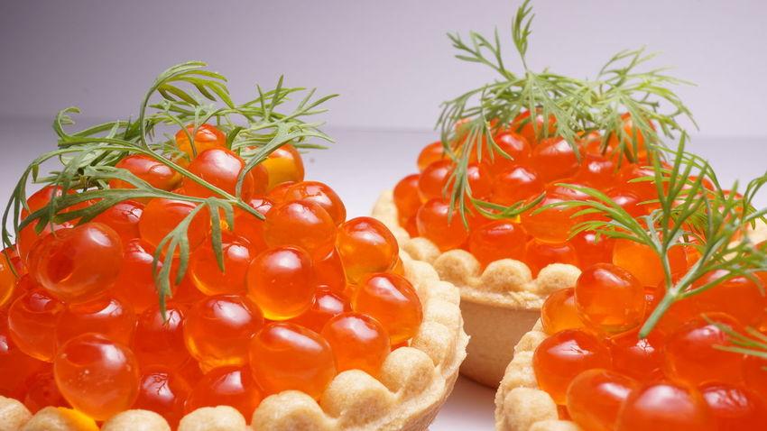 Food Macro Red Caviar