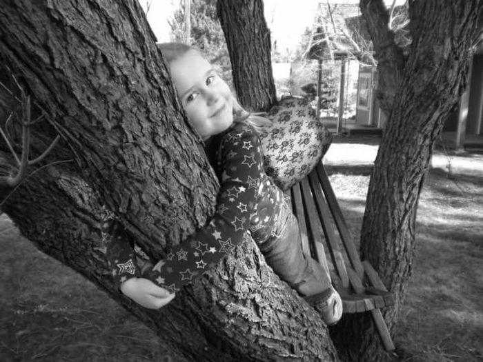Tree Trunk Littlegirl Sweet Moments Treehugger Hugthattree MyBabyGirl  Bendoregon Faith Kids Being Kids Goodegg IMadeThat Smile Sweetface Daughter Chubbycheeks Chairy Tree Cherry Tree