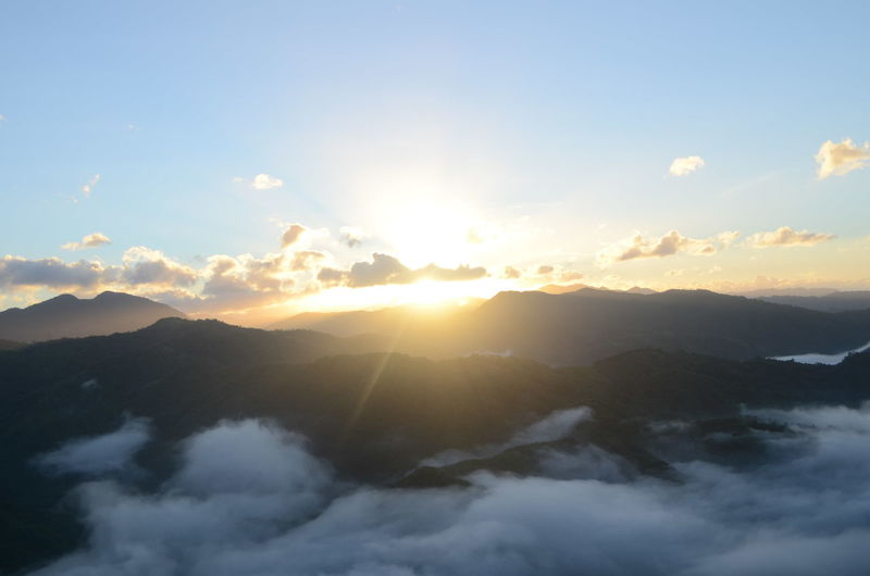 Mt Binacayan Sunrise And Clouds