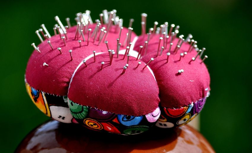 Close-up of pin cushion