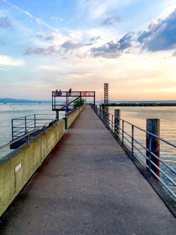 Steg und Aussichtsturm in Friedrichshafen Am Bodensee Lake Constance Lake View Dock