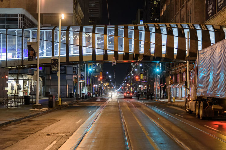 Night Illuminated Architecture Building Exterior City Built Structure Transportation Connection Motion No People Bridge Lighting Equipment Road Bridge - Man Made Structure Outdoors Mode Of Transportation Rail Transportation Direction Street Light