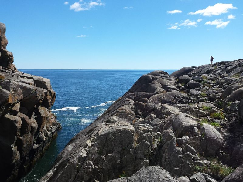 Sea Water Horizon Over Water Rock Formation Tranquil Scene Blue Beauty In Nature Tranquility Sky Cliff Nature Rocky Geology Vacations Non-urban Scene Remote Vastness Gulch Maine Outdoors People And Places