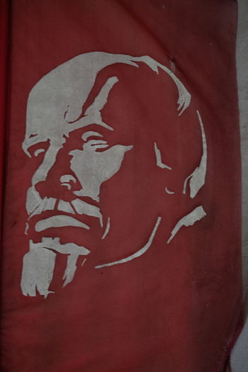 Image of Lenin, Momento Park Budapest Capital City Close-up Communist Era Composition Famous Person Famous Place Full Frame Headshot Hungary Indoor Photography Lenin Vladimir Iliich Memento Park No People Profile Red And Black Colour Socialism Tourist Attraction  Travel Destination