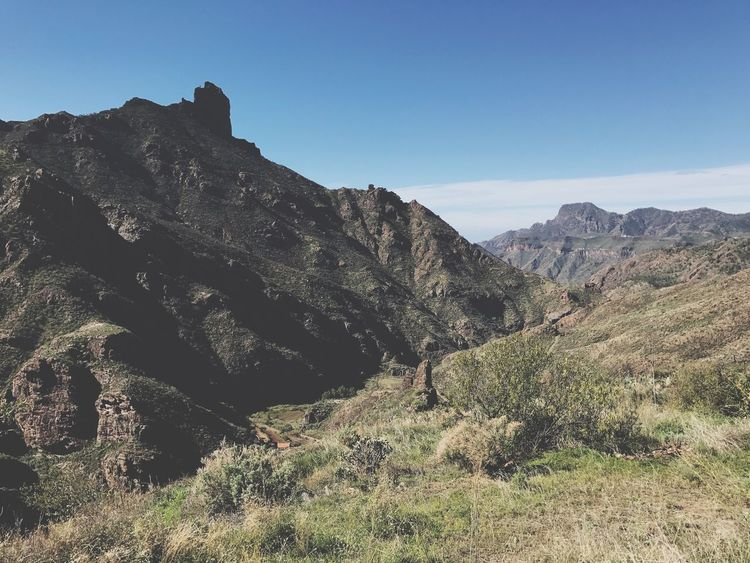 Gran Canaria Tejeda Mountain Nature Tranquility Day Tranquil Scene Landscape Beauty In Nature Scenics Outdoors No People Clear Sky Mountain Range Sky