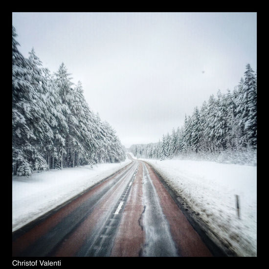 Landscape_Collection North Trucking Streamzoofamily Eye Em Around The World Nature_collection On The Road Sweden Work Winter Snow