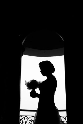 Back Lit Blackandwhite Bw_collection Bws_worldwide Indoors  Lifestyles One Person Princrss Real People Silhouette Wedding EyeEmNewHere Long Goodbye