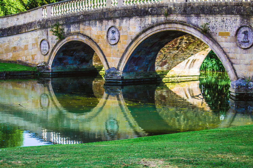 Arch Reflection Day Water Architecture Outdoors Travel Destinations No People Building Exterior Nature Bridge Bridge - Man Made Structure Water Reflections Water Surface Audley End