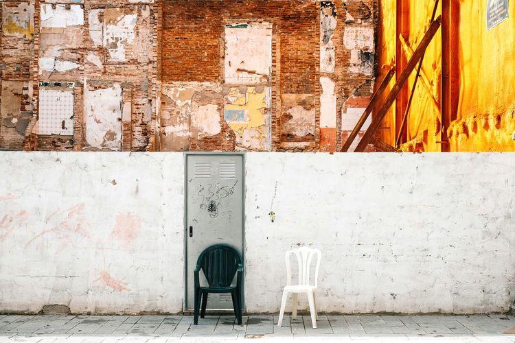 View Of Chairs In Front Of Door