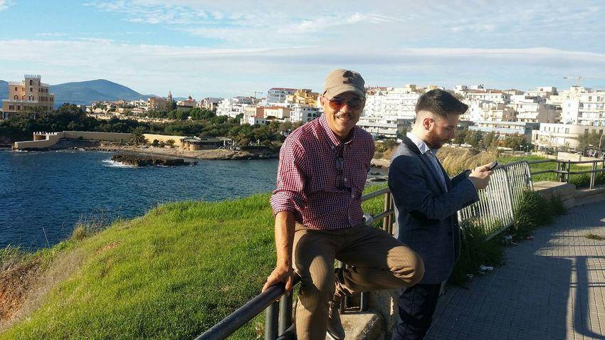 Sardinia Sardegna Italy  My Friend ❤ My Sons Alghero ❤ Thet's Me Hello World Relaxing Happy Holydays Hi!