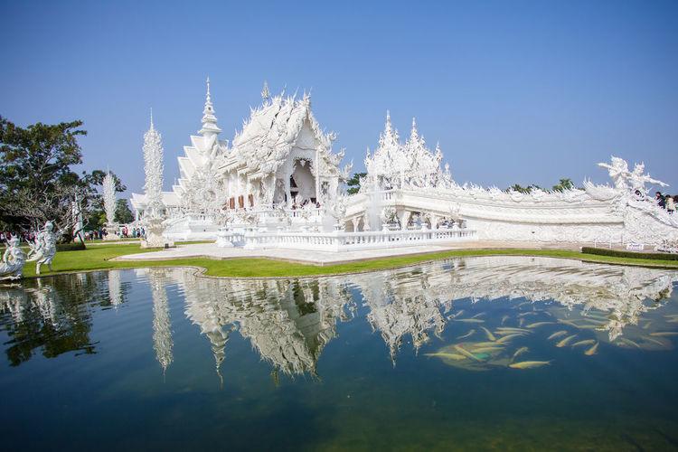 Wat Rong Khun - วัดร่องขุ่น เชียงราย Architecture Building Exterior Built Structure Famous Place Outdoors Postprocessing Religion Temple Temple - Building Thailand Tourism Travel Destinations Vignette Wat Rong Khun Canon 6D