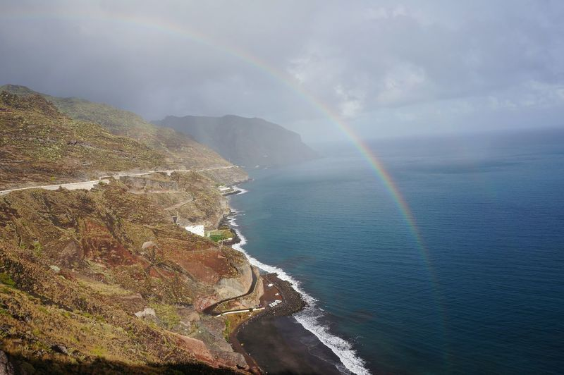 Scenics Beauty In Nature Sea Nature Natural Phenomenon Outdoors Day Water Sky No People Rainbow Tenerife View From Above