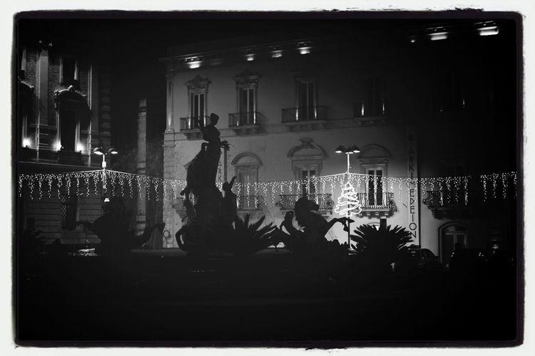 Diana' Fountain , Silhouette