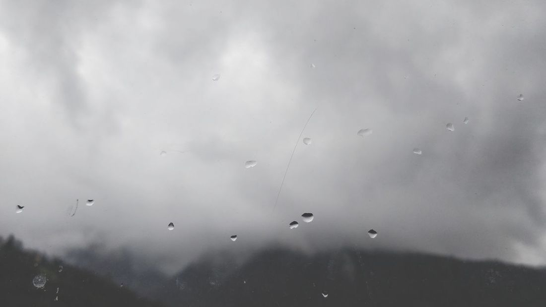 Disappearing. Out Of The Window Mountains And Sky Mountain View Foggy Flying Water Backgrounds Sky Animal Themes Close-up Rainy Season Rainfall