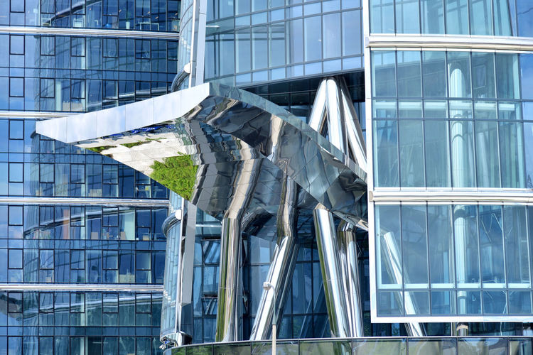Tongue Architecture Built Structure Modern Metal Building City No People Office Glass Reflection Façade Office Building Exterior Exterior Urban Warsaw Warszawa  Poland Eastern Europe Europe